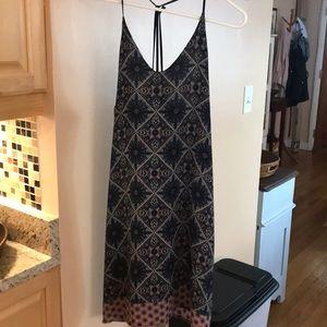 Anthropologie tribal print dress